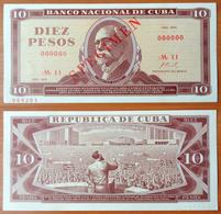Cuba 10 Pesos 1970 UNC Specimen - Cuba