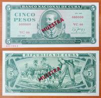 Cuba 5 Pesos 1986 UNC Specimen - Cuba