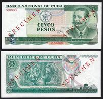 Cuba 5 Pesos 1991 UNC Specimen - Cuba