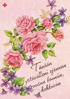 Flowers - Fleurs - Bloemen - Blumen - Fiori - Flores - Roses - Red Cross 1992 - Suomi Finland - Croix-Rouge