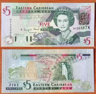 Eastern Caribbean 5 Dollars 2003 UNC P-42k - Caraïbes Orientales