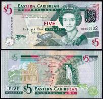 Eastern Caribbean 5 Dollars 2008 UNC P-47 - Caraïbes Orientales