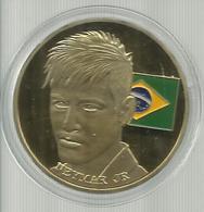 FIFA WORLD CUP 2014 GOLD COIN BRAZIL RUSSIA 2018 MADRID MAN - Gettoni E Medaglie