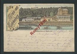 Gruss Vom Kahlenberg. Mülheim A.d. Ruhr, Den 1893. Litho.   2 Scans. - Vienne