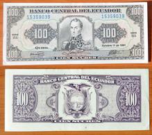 Ecuador 100 Sucres 1991 UNC - Equateur