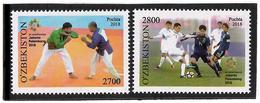 Uzbekistan.2018 Sport: Wrestling, Football. 2v: 2700, 2800 - Uzbekistan