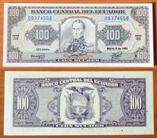 Ecuador 100 Sucres 1992 UNC - Ecuador
