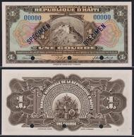 Haiti 1 Gourde 1919 (1951-1964) Specimen UNC P-178 - Haiti