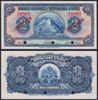 Haiti 2 Gourde 1919 (1951-1964) Specimen UNC P-179 - Haiti