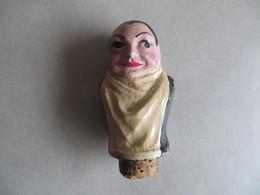 Beau Bouchon Bistrot Très Ancien Tête Garçon De Café Ou Serveur - Probablement Design LOUPOT - Dans Son Jusde - Autres Collections
