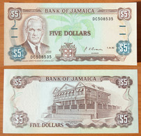 Jamaica 5 Dollars 1992 UNC - Jamaica