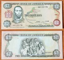 Jamaica 2 Dollars 1993 UNC - Jamaica