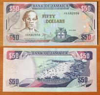 Jamaica 50 Dollars 2004 UNC - Jamaica