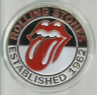 Rolling Stones Gold Coin Red Lips & Tongue Mick Jagger Est. 1962 UK - Professionali / Di Società