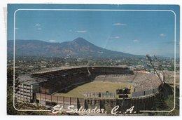 EL SALVADOR - MONUMENTAL SOCCER STADIUM CUSCATLAN / STADION / STADE/ STADIO / ESTADIO / THEMATIC STAMP-FROG - Salvador