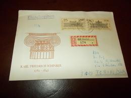 B710  Germania Ddr  Busta Karl Friedrich Schinkel - FDC: Enveloppes