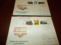 B710  Germania  2 Buste Ddr  Schmalspurbahnen - FDC: Enveloppes