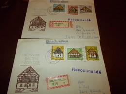 B710  Germania  2 Buste Ddr  Schinbach - FDC: Enveloppes