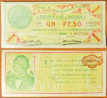 Mexico (Oaxaca) 1 Peso 1915 AUNC - Mexique