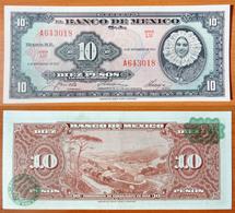 Mexico 10 Peso 1961 UNC Green Seal - Mexique