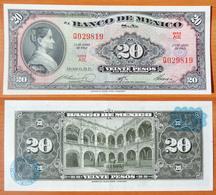 Mexico 20 Peso 1963 AUNC Blue Seal - Mexique