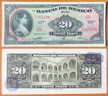 Mexico 20 Peso 1965 AUNC Purple Seal - Mexico