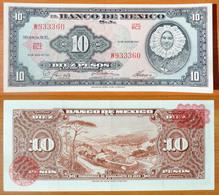 Mexico 10 Peso 1967 XF Red Seal - Mexique