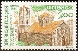 France Unesco Issue 1984  Santa Maria Orthodox Church Kotor Dalmatia 1 Value MNH Architecture Religion Christianity - Christentum