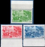 France  1984 Conseil De L' Europe Service Stamps 3 Values MNH, Gomme Intacte, European Building Strasbourg - Ungebraucht