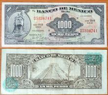 Mexico 1000 Pesos 1973 Green Seals (2) - Mexico