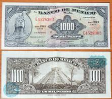 Mexico 1000 Pesos 1973 Light Blue Seals - Mexico