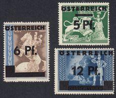 AUSTRIA  OSTERREICH - 1945 - Lotto 3 Francobolli Nuovi MNH: Yvert 539, 540 E 542. - Unused Stamps