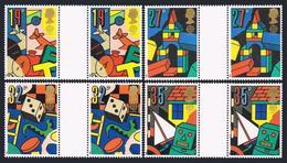 Great Britain 1256-1259 Gutter,MNH.Michel 1202-1205. EUROPE CEPT-1989.Child Toys - 1952-.... (Elizabeth II)