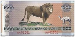 SOMALILAND 1000 SHILLINGS 2006 UNC P CS1 - Somalia