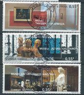 ESPAGNE SPANIEN SPAIN ESPAÑA 2015 MUSEUMS MUSEOS 2015 SET 3V. USED ED 4953-55 YV 4666-68 MI 4961-63 - 1931-Today: 2nd Rep - ... Juan Carlos I