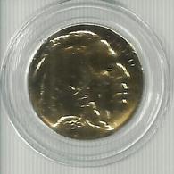 USA Gold Coin Buffalo 5c Bison North Animal Native Americans Star & Stripes - Stati Uniti