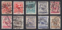 AUSTRIA -  OSTERREICH - 1925/1927 - Lotto 10 Francobolli Usati (seconda Scelta) E Perfin: - Gebraucht
