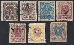 AUSTRIA  OSTERREICH - 1920/1921 - Lotto 7 Valori Usati, Perfin. - Gebraucht