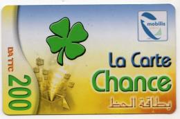 ALGERIE Recharge MOBILIS LA CARTE CHANCE - Algeria