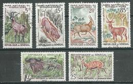 Sénégal YT N°198/203 Parc National Du Niokolo Koba Oblitéré ° - Sénégal (1960-...)