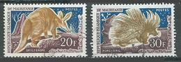 Mauritanie YT N°172-174 Oryctérope Et Porc-épic Oblitéré ° - Mauritanie (1960-...)