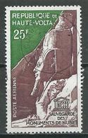Haute-Volta Poste Aérienne YT N°12 Sauvegarde Des Monuments De Nubie Oblitéré ° - Alto Volta (1958-1984)