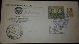 O) 1947 COLOMBIA,JOSE CELESTINO MUTIS  AND JOSE JERONIMO TRIANA SCT 555 25c - VIRREINATO OF NEW GRANADA-BOTANY, TASA PAR - Colombia