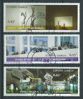 ESPAGNE SPAIN ESPAÑA 2016 MUSEUMS MUSEOS SET 3V USED ED 5034-36 MI 5046-48 YT 4751-53 SC 4106-08 - 1931-Aujourd'hui: II. République - ....Juan Carlos I