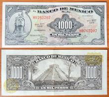 Mexico 1000 Pesos 1974 XF Yellow Seals - Mexico