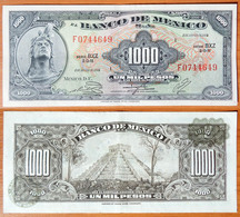 Mexico 1000 Pesos 1974 Dark Green Seals - Mexico