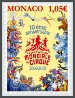 H01 Monaco 2019 Federation Mondiale Du Cirque MNH - Monaco