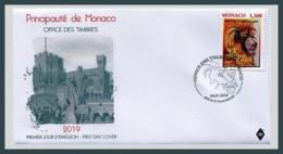 H01 Monaco 2019 Federation Mondiale Du Cirque FDC - Neufs