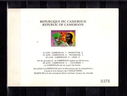 Cameroun, 1990- Cardboard. World Football Cup - Fútbol