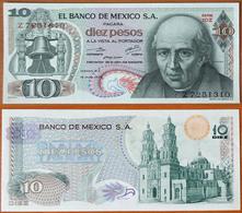 Mexico 10 Pesos 1975 AUNC Orange Seal (Sign.2) - Mexico
